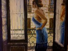 femme au balcon